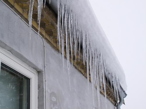 Icicle formation is often a symptom of ice dams.