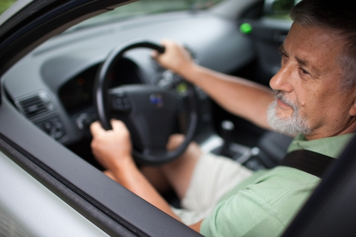 Senior citizen driving, auto insurance