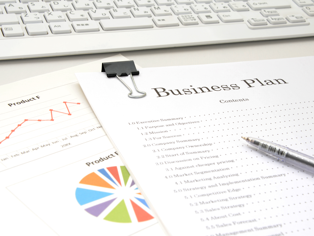 business plan papers with graphs and table of content