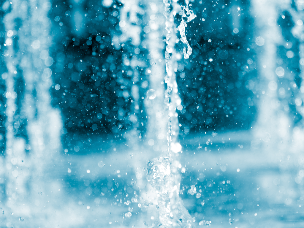 water gushing from a fountain