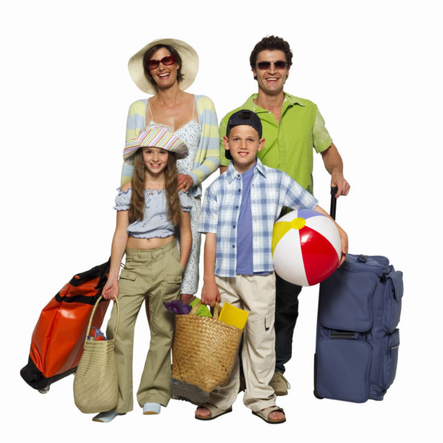 Family vacationing
